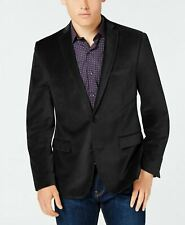 Bar Iii Velvet Slim Fit Sport Coat 40s Black Smoking Jacket