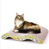 Pet Cat Scratcher Scratching Board Corrugated Cardboard Scratch Post Catnip Bed.
