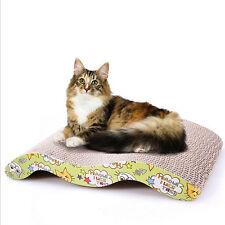 Cute Cat gewellte kratzen Board Pad Rückenkratzer Bett Matte Fun Toy mit Katzenminze