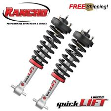 Rancho Set of 2 Loaded QuickLIFT Adjustable Leveling Kit For 2015-2019 Ford F150