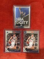 (3) LUKA DONCIC 2019-20 HOOPS PREMIUM STOCK Base & NBA City #39 lot