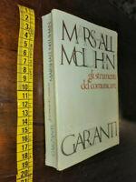 """LIBRO:GLI STRUMENTI DEL COMUNICARE"""", M. MCLUHAN, Il Saggiatore, GARZANTI 1974,"""