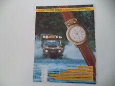 advertising Pubblicità 1991 CAMEL TROPHY WATCH GREEN BELT