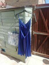 Monsoon Silk Dress 16 BNWT Cobalt Blue occasion