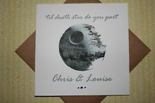Handmade Personalised Star Wars 'til death star do you part' Wedding Card