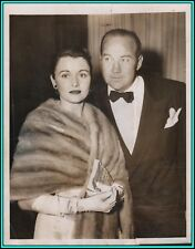 BRODERICK CRAWFORD & KAY GRIFFITH (Wife) -Original Photo at The Oscars w/Caption