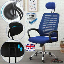 Executive Office Mesh Chair Adjustable Comfy Padded Soft Seat Swivel High Back