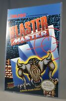 "BLASTER MASTER POSTER w/ Top Loader Video Game 17"" Box Art Restoration Nintendo"
