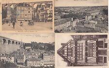 Lot 4 cartes postales anciennes MORLAIX