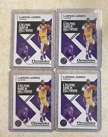 2019-20 Panini- Chronicles Basketball LEBRON JAMES Card #10 Lakers (4) Card Lot