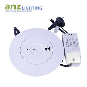 3W LED SPITFIRE EMERGENCY LIGHT ROUND RECESSED DOWN LIGHT SAA APPROVAL