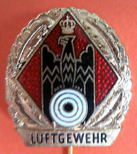 GERMAN SHOOTING FEDERATION - AIR RIFLE GOLD COLOR PIN 1 , 26x23 mm.