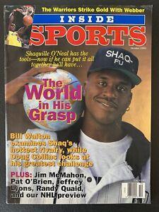 Shaquille SHAQ O'Neal October 1993 Inside Sports Magazine Newsstand Magic