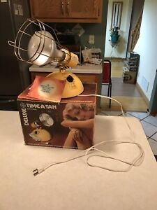 Deluxe Time-A-Tan GE Working Suntanner Lamp RSK6A with Bulb 1985 IN BOX Tested