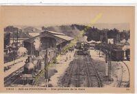 SEPIA 13090 AIX EN PROVENCE vue générale de la Gare avec Trains vapeur Edit E.S.