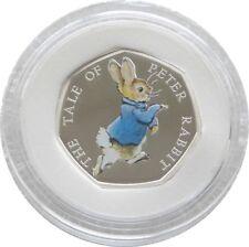 2017 Beatrix Potter Peter Rabbit 50p Cinquante Pence Silver Proof Coin Box COA