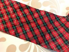 Red Plaid with gold highlights Taffeta Trim    5 1/2 inches wide   1 yard