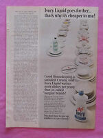 1968 Magazine Advertisement Page Featuring Ivory Dish Liquid Detergent Dishes Ad