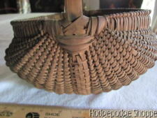 Rare 1800's New England Ash Splint Melon Harvest Herb Gathering Basket,  AAFA