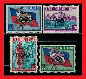 ZAYIX - 1960 Haiti 451, C148-150 MNH - Olympics overprints