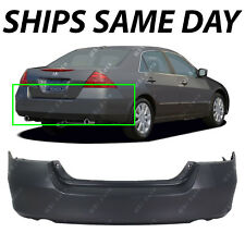 NEW Primered - Rear Bumper Fascia for 2006 2007 Honda Accord Sedan & Hybrid414