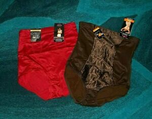 RED MAIDENFORM FIRM Shaping Brief or BROWN or BLACK HIGH WAIST Brief   - 3XL NWT