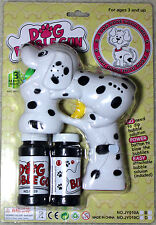 WHITE DOG Bubble Gun Blower Blaster with Flashing LED Lights & Music 2 Refill