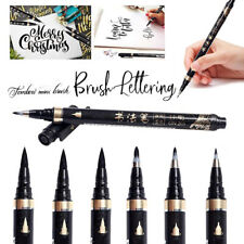 6X Calligraphy Pens Beginners Refillable Brush Writing Painting DIY Accessories