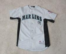 MLB Florida Marlins Baseball Jersey Size Youth Small Gray Black Sewn Kids  Boys 99b34a3de