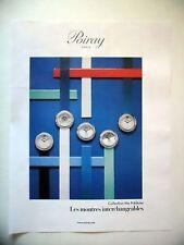 PUBLICITE-ADVERTISING :  POIRAY Collection Ma Préférée  2016 Montres