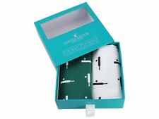 Cricket Ball Design White & Blue Large Hankies Handkerchiefs Sports Boxed 87