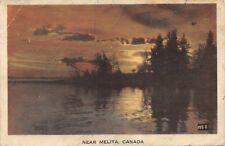 VIEW NEAR MELITA MANITOBA CANADA PHOTO POSTCARD