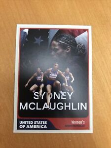 Sydney McLaughlin USA Women's Track & Field 2020 Tokyo Olympic Gold Trading Card