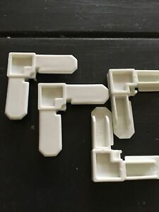 "100 Plastic Window Screen Frame Corners 5/16""x 3/4"" White"
