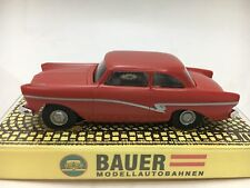 BAUER FORD 17M/P2 SEDAN SALMON AUTO WORLD T-JET CHASSIS HO SLOT CAR