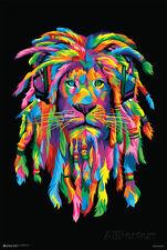 Lion Rasta Poster Print, 24x36