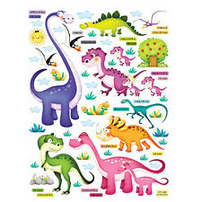 Dinosaur 2 Removable Decal Wall Stickers Home Decor Kids Room Jurassic World DIY