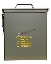 Box Scatola Cassetta Munizioni Militare NUOVA Grande in Metallo a Tenuta Stagna