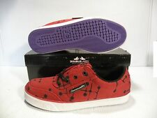 DC CW GATSBY LOW OMAR QUIAMBAO SKATE SNEAKERS MEN SHOES RED 301792 SIZE 7.5 NEW