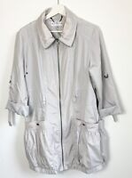 M&S Ladies Limited Collection Grey Coat With Belt Size 12