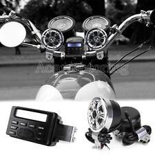 Audio FM Radio MP3 iPod Stereo Speakers Sound System Motorcycle Bike ATV UTV New