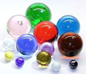 Glaskugeln 40 mm mit Lufteinschlüssen - Viele Farben