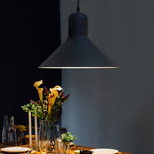 HOMCOM Industrial Ceiling Lamp Loft Pendant Light Metal Shade Dining Black
