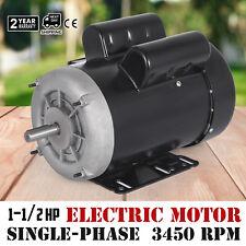 Electric Motor 1-1/2 HP Single-Phase 3450RPM TEFC 5/8 shaft  machinery
