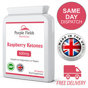 Raspberry Ketones Extract 600mg High Strength 60 Vegan Capsules