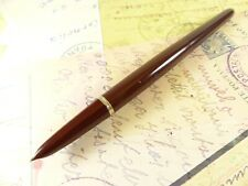 Restored Cordovan Brown Parker 51 Vacumatic Desk Fountain Pen - restored