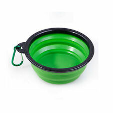 Silicone Pet Travel Bowl for Dog Cat Feeders Camping Portable Foldable Green