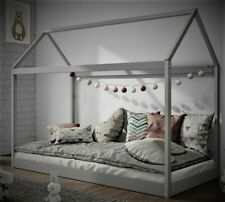 Kids Children Teepee & House bed Solid Pine Wood Beds In Grey