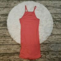 H&M Women's Pink Ribbed Jersey Dress Size Small S