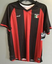 Mitre Mens Mexico Soccer Shirt Jersey Black Red Size Small Large Football Futbol